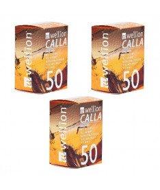Тест-полоски Wellion Calla Light 50 - 3 уп. Оптовый комплект!