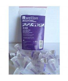 Универсальные иглы Wellion MEDFINE plus для инсулиновых шприц-ручек 6мм ( 31G x 0,25 мм) 20 шт