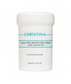 Увлажняющий крем с маслом шиповника и моркови Christina Rose Hips Moisture Cream with Carrot Oil, 250 мл