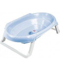 Ванночка детская для купания OK Beby Onda Slim голубая
