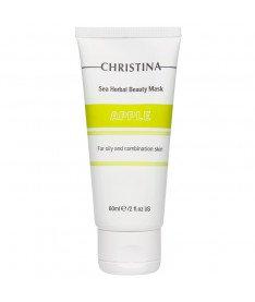 Яблочная маска для жирной и комбинированной кожи Christina Sea Herbal Beauty Mask Green Apple, 60 мл