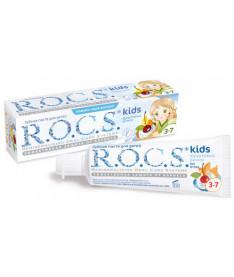 Зубная паста R.O.C.S kids Фруктовый рожок со вкусом мороженого. Без фтора